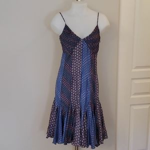 le chateau Silk Summer Dress Small Med 34 bust